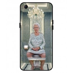 Durable Queen Elizabeth On The Toilet Cover For Oppo A1