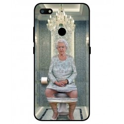 Durable Queen Elizabeth On The Toilet Cover For ZTE Nubia V18