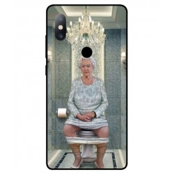 Durable Queen Elizabeth On The Toilet Cover For Xiaomi Mi Mix 2s