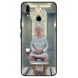 Durable Queen Elizabeth On The Toilet Cover For Vivo X21