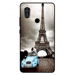 Durable Paris Eiffel Tower Cover For Sharp Aquos S3