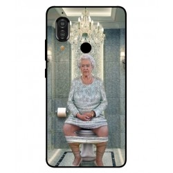 Durable Queen Elizabeth On The Toilet Cover For Sharp Aquos S3