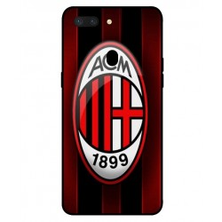 Durable AC Milan Cover For Oppo R15