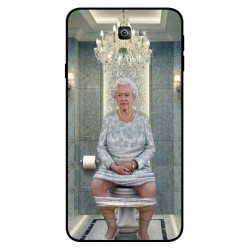 Durable Queen Elizabeth On The Toilet Cover For Samsung Galaxy J7 Prime 2