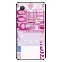 Durable 500 Euro Note Cover For Sharp Aquos S3 Mini