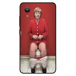 Durable Angela Merkel On The Toilet Cover For Sharp Aquos S3 Mini