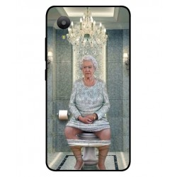 Durable Queen Elizabeth On The Toilet Cover For Sharp Aquos S3 Mini