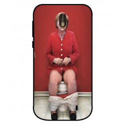 Durable Angela Merkel On The Toilet Cover For Nokia 1