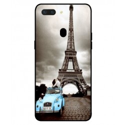 Durable Paris Eiffel Tower Cover For Oppo R15 Pro