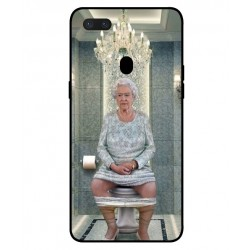 Durable Queen Elizabeth On The Toilet Cover For Oppo R15 Pro