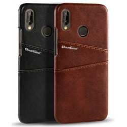 Hard Leather Cover For Huawei P20 Lite