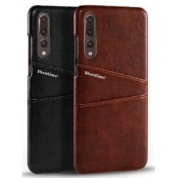Hard Leather Cover For Huawei P20 Pro