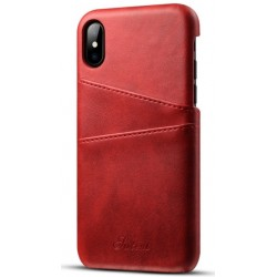 Cover in Pelle Dura Per iPhone X
