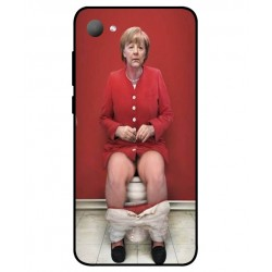 Durable Angela Merkel On The Toilet Cover For HTC Desire 12