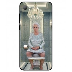 Durable Queen Elizabeth On The Toilet Cover For HTC Desire 12