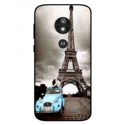 Durable Paris Eiffel Tower Cover For Motorola Moto E5 Play