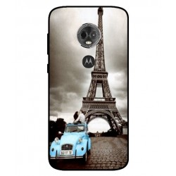 Durable Paris Eiffel Tower Cover For Motorola Moto E5 Plus