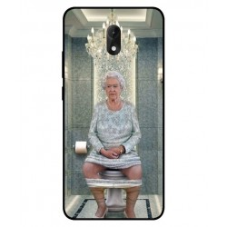 Durable Queen Elizabeth On The Toilet Cover For Wiko Lenny 5