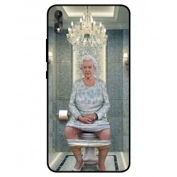 Durable Queen Elizabeth On The Toilet Cover For Wiko Robby 2