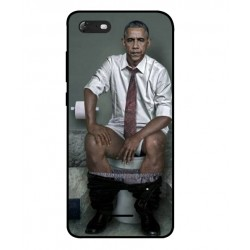 Durable Obama On The Toilet Cover For Wiko Tommy 3