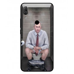 Durable Vladimir Putin On The Toilet Cover For Wiko View 2 Pro