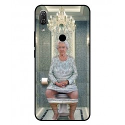 Durable Queen Elizabeth On The Toilet Cover For Wiko View 2 Pro