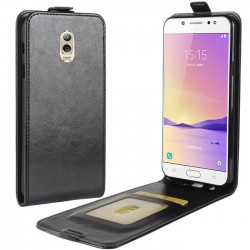 Flip Leather Cover For Samsung Galaxy C7 (2017)