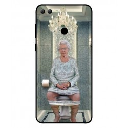 Durable Queen Elizabeth On The Toilet Cover For Huawei Y9 2018