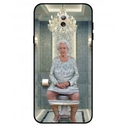 Durable Queen Elizabeth On The Toilet Cover For Samsung Galaxy C7 (2017)