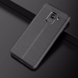 Soft Leather Cover For Samsung Galaxy A8 2018