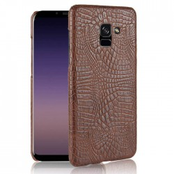Hard Leather Cover For Samsung Galaxy A8 2018