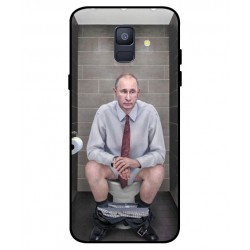 Durable Vladimir Putin On The Toilet Cover For Samsung Galaxy A6 2018