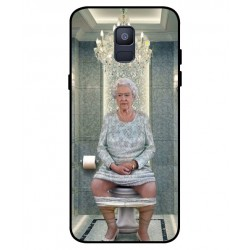 Durable Queen Elizabeth On The Toilet Cover For Samsung Galaxy A6 2018