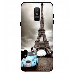 Durable Paris Eiffel Tower Cover For Samsung Galaxy A6 Plus 2018