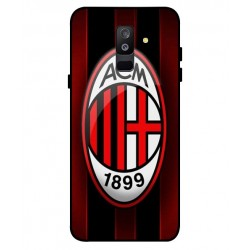 Durable AC Milan Cover For Samsung Galaxy A6 Plus 2018