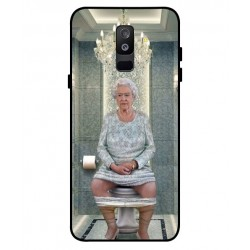 Durable Queen Elizabeth On The Toilet Cover For Samsung Galaxy A6 Plus 2018