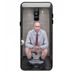 Durable Vladimir Putin On The Toilet Cover For Samsung Galaxy A6 Plus 2018