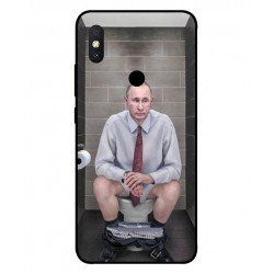Durable Vladimir Putin On The Toilet Cover For Xiaomi Redmi S2