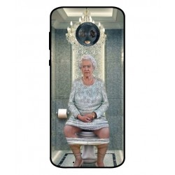Durable Queen Elizabeth On The Toilet Cover For Motorola Moto G6