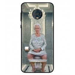 Durable Queen Elizabeth On The Toilet Cover For Motorola Moto G6 Plus