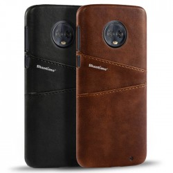Hard Leather Cover For Motorola Moto G6