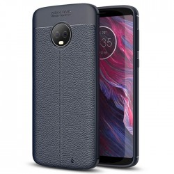 Soft Leather Cover For Motorola Moto G6 Plus