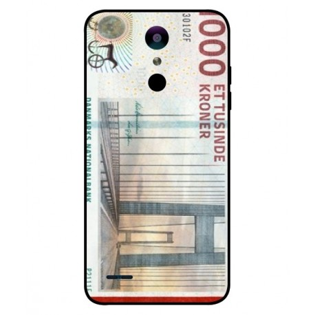 1000 Danish Kroner Note Cover For LG K10 2018