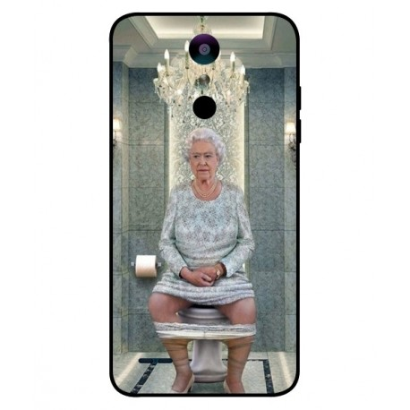 Durable Queen Elizabeth On The Toilet Cover For LG K30