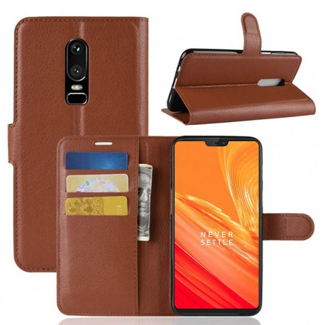 Folio Wallet Cover For OnePlus 6