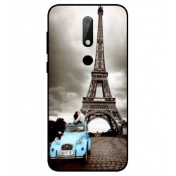 Durable Paris Eiffel Tower Cover For Nokia X6