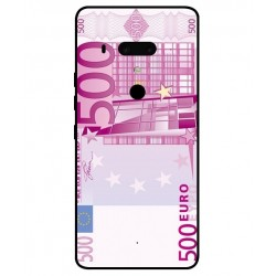 Durable 500 Euro Note Cover For HTC U12 Plus