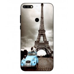 Durable Paris Eiffel Tower Cover For Huawei Honor 7C