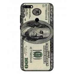 Durable 100 Dollar Note Cover For Huawei Honor 7C