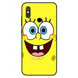 Durable SpongeBob Cover For Xiaomi Mi 8
